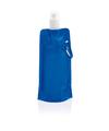 Blauwe opvouwbare waterfles