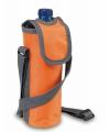 Oranje koeltas voor fles met schouderband