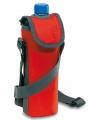 Rode koeltas voor fles met schouderband