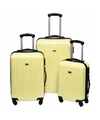 Schokbestendige koffers yellow geel 56 cm