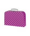 Roze meisjes koffer met witte stippen