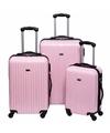 Schokbestendige koffers lichtroze 66 cm