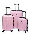 Schokbestendige koffers lichtroze 56 cm
