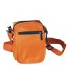 Oranje schoudertasje met rits 15 cm
