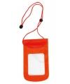 Smartphone tasje rood 13 x 24,5 cm