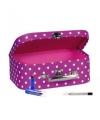 Make up opbergen roze koffer 25 cm