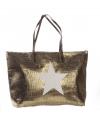 Strandtas met ster brons 50 x 30 cm