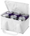 Witte koeltasjes voor 6 blikjes bier